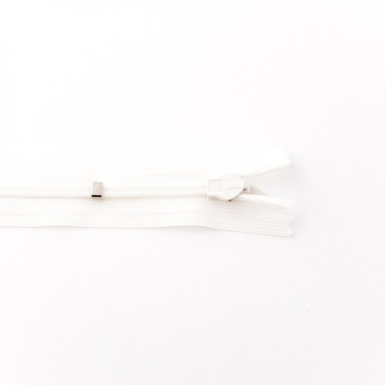 Adjustable Length Invisible Zipper: Off White (60 cm)