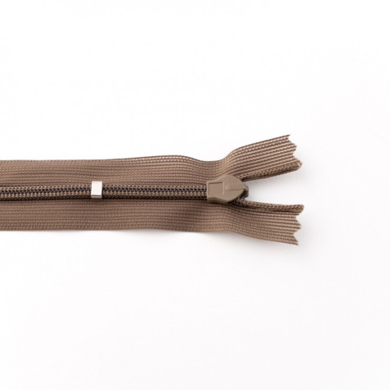 Adjustable Length Invisible Zipper: Taupe (60 cm)