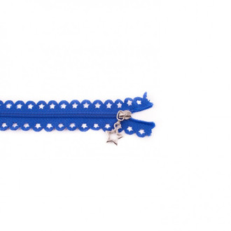 Star Cut Zipper: Royal Blue (25 cm)