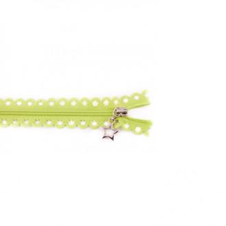 Star Cut Zipper: Lime (25 cm)