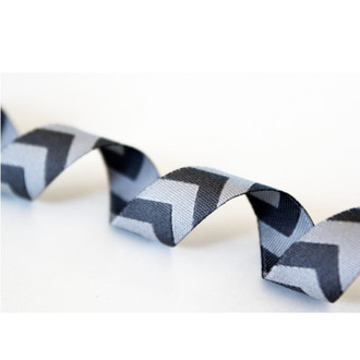 Chevron, Grey: Farbenmix Ribbon