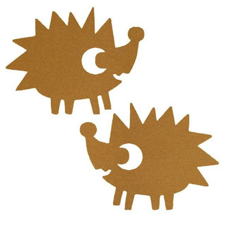 Hedgehogs in Gold: Iron On Transfer