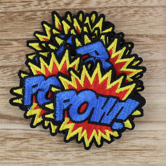 Pow:  Iron-on Applique