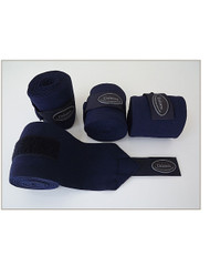 4 Elastic Horse Bandages Wraps 3mtrs Long 4' Inch Wide Navy Blue