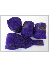 4 Sparkle Elastic Horse Bandages Wraps 3mtrs Long 4' Inch Purple