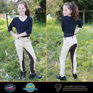 Two Tone Kids Breeches Beige & Brown