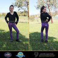 Kids Crown Purple Denim Jodhpurs