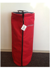 Horse Bridle Bag (barrell Shaped) - Red/navy - Double Capacity