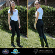 Black Denim Look Jodhpurs Breeches Super Stretchy Riding Jeans All Sizes