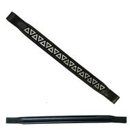 Browband Swarovski Triangle Diamante stone with Black Leather Padded Brow band