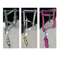 Wholesale Pack of 3 Unicorn Horse Head Collar With Matching Lead Rope Sets