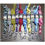 Set Of 10 MultiColor Premium 2.2mt Plaited Horse Lead Ropes