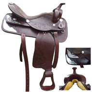 Brown Western Show Saddle With a Horn 16' 1/2