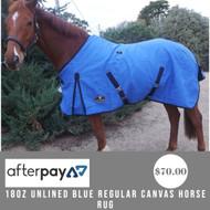 18oz Unlined Blue Regular Canvas Horse Rug