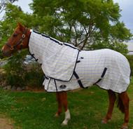 Desire Cotton Ripstop Yellow Blue Check Detachable Neck Show Horse Rug
