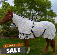 Desire Cotton Ripstop Yellow Blue Check Detachable Neck Show Horse Rug