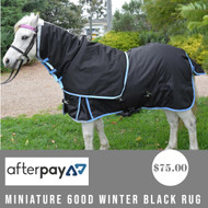 Miniature 600D Winter Black Rug