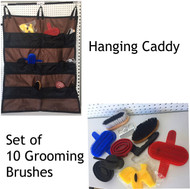 Hanging Caddy W/ Set Of 10 Grooming Brushes