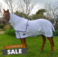 Desire Cotton Ripstop Purple Check Detachable Neck Show Horse Rug