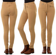 Ladies Classic Plain Beige Jodhpurs