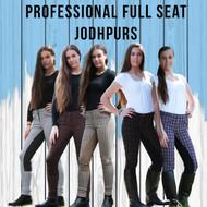 Professional Check Jodhpurs  W/ Matching Suede Full Seat