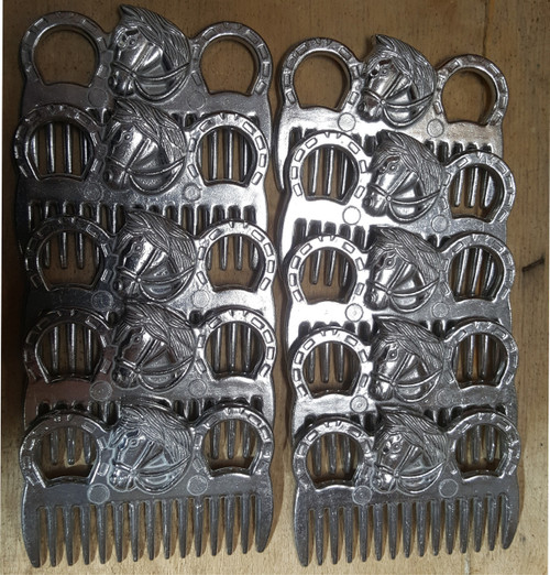 Set of 10 Horse Aluminium Tail Mane Combs