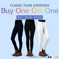 Buy 1 Get 1 Classic Plain Ladies Jodhpurs Women's Riding Pants