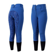 Royal Blue Silicon Full Seat Ladies Horse Riding Jodhpurs