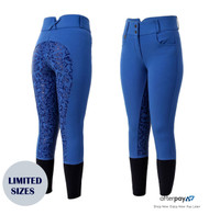 Unicorn Ladies Royal Blue High Waisted Silicone Grip Breeches