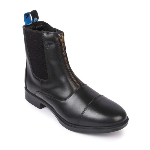 Zip Front Black Riding Boots