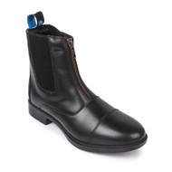 Zip Front Black Riding Jodhpurs Boots