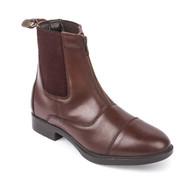 Zip Front Brown Riding Jodhpurs Boots