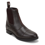 Front Zip Dark Brown Riding Jodhpurs Boots
