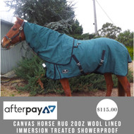 Canvas Horse Rug 20oz Wool Lined Immersion Treated Showerproof