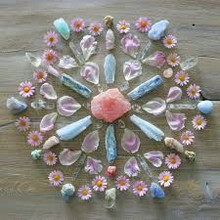 A  crystal grid is the name for a placement of stones, crystals or other objects. It can take many unique and individual shapes
