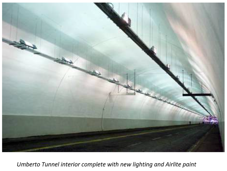 Painting Tunnel with Airlite Air Pollution Reducing Paint