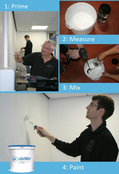 Airlite Purelight Interior Paint - Painting the Celtic Sustainables Office Walls
