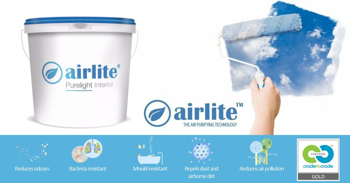 Airlight Paint - Improves indoor air quality