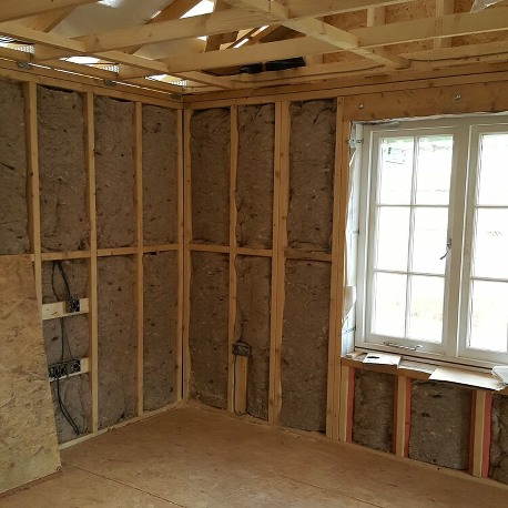 Walls insulated with CosyWool Insulation