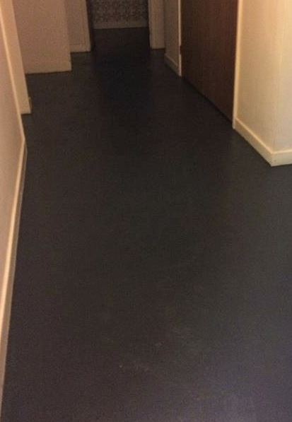 Finished painted concrete floor - superb finish