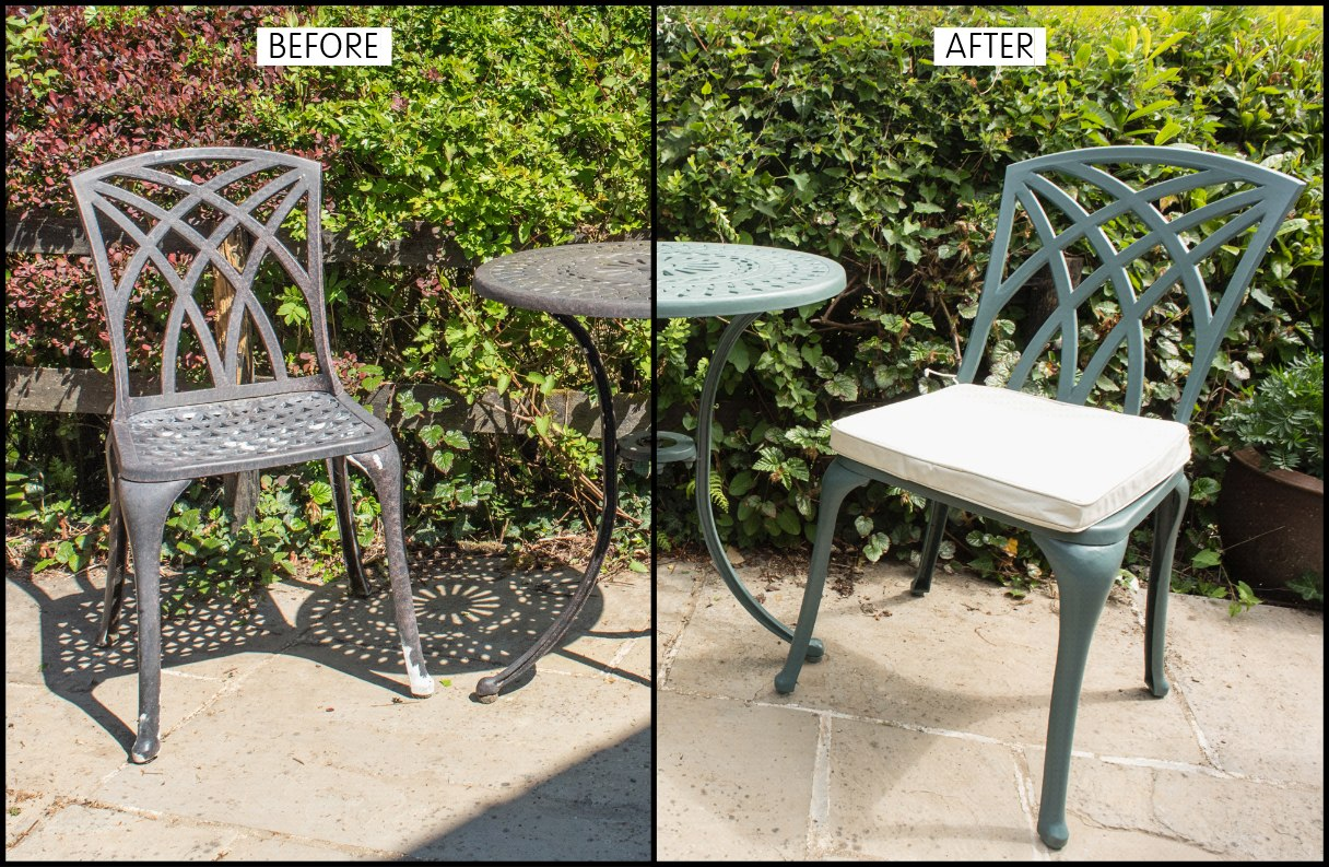 How To Spray Paint Metal Garden Furniture Celtic Sustainables