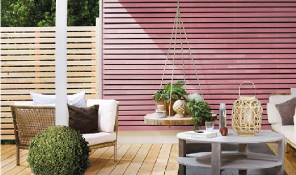 Osmo Country Colour Pink Fence Paint (spoiler alert it's a mix of Red and White)