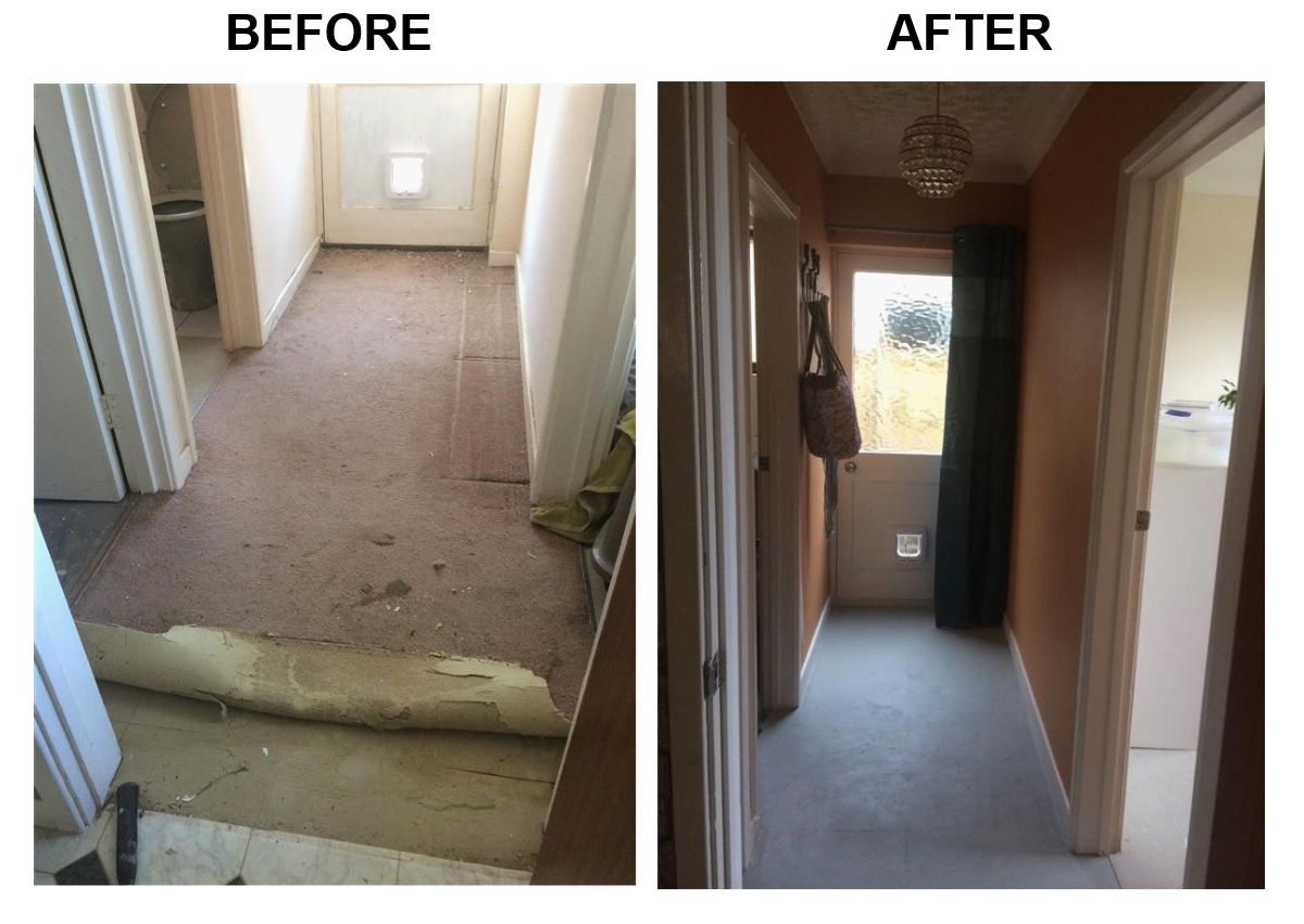 Painting a concrete floor with Eico Alterior Floor Paint - Great finish - low VOC