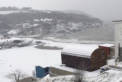 The Cwtch Aberporth in Winter Snow