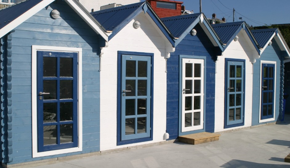 Outdoor Wood Paint on the Summer Houses at The Cwtch