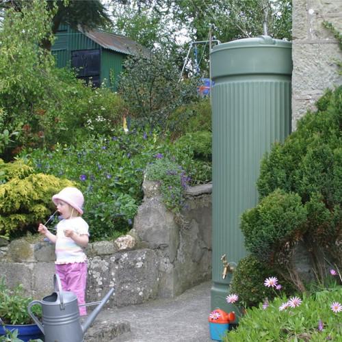 Column Water Butt - 500 Litres (Green)