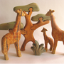 The colour detail on these wooden toys by Nicolas Langlois were created in Auro 160 Wood Stain. The toys were finished with Auro 261 Satin Natural Varnish.