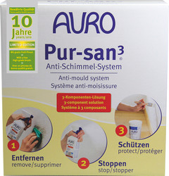 Auro 414 Natural Anti Mould System. 3 products and applicator brush in one cost-saving kit (boxed).