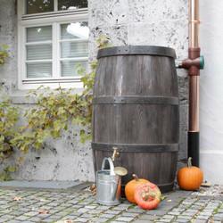 Burgundy Water Butt (large oak barrel effect water butt)