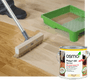 Osmo Polyx Oil Rapid. Great on wooden floors.